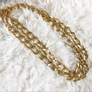 Double Layer or Long Gold Chain Costume Necklace!